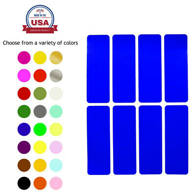 Rectangle Color Coding 3x1 Inch Labels to Write On Crafts Decoration Stickers