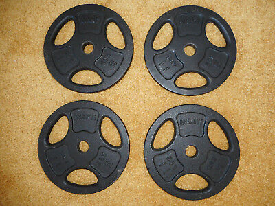 4 x 5kg Cast Iron Avanti Standard Size Weight Plates - New, Never Used!
