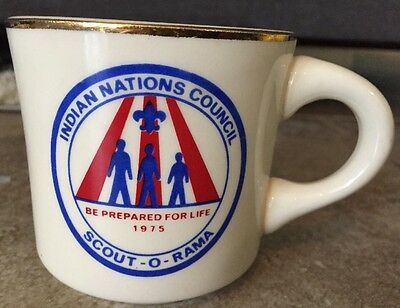 Scout-O-Rama 1975 Indian Nations Council Be Prepared For Life Coffee Cup Mug USA