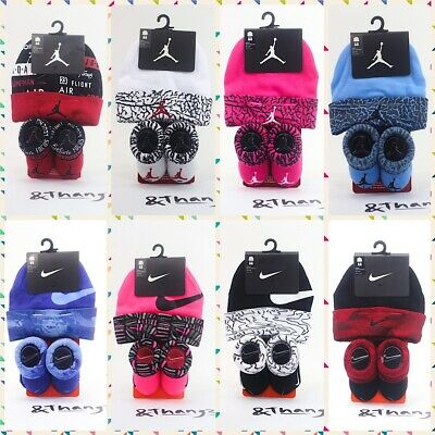 Nike Air Jordan Jumpman Baby Infant Newborn Booties Socks and Hat Set 0-6  Months 69bc6d3c5cc