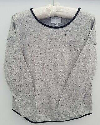 Witchery Girls Size 6 long sleeve top EUC grey marle