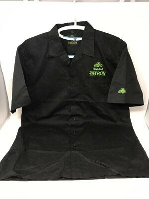 Patron Tequila Short Sleeve Button Up Cotton Shirt Mens Size L NEW Without Tags