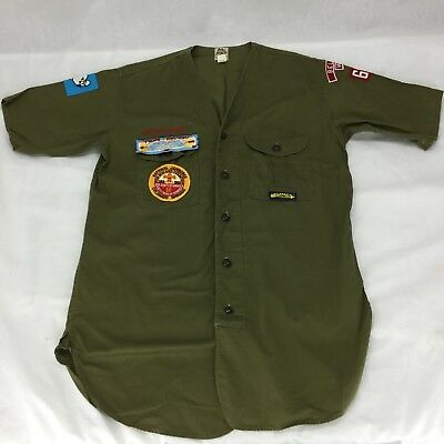 VINTAGE 1960's BOY SCOUTS SANFORIZED SHIRT Seattle Rare Kwiskwis Jamboree OA