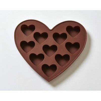 OZ Seller - Heart Silicone Mould / Mold 10 hearts, melts, soaps, chocolate mould
