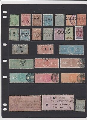 india AMAZING STAMPS OLD REVINUES $1 EACH
