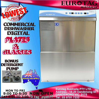 EUROTAG DIGITAL Commercial Undercounter Dishwasher  90-120-180 sec w. cycles
