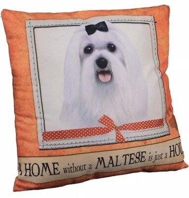 """NEW A Home Without a Maltese is Just a House Dog Throw Pillow 16"""" x 16"""""""