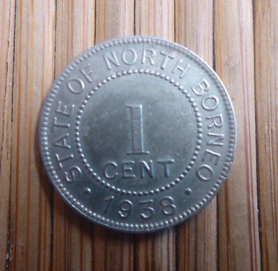 State Of North Borneo - 1938 One 1 Cent Coin