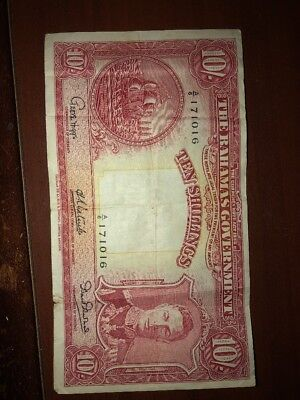 10 Shillings 1936 The Bahamas Government
