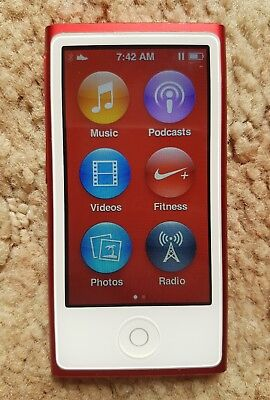 iPod Nano 7th Generation 16gb Red Limited Edition