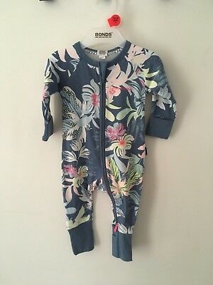 Bonds Baby Zip Wondersuit/babygrow Nwt Waikiki Vibes All Sizes