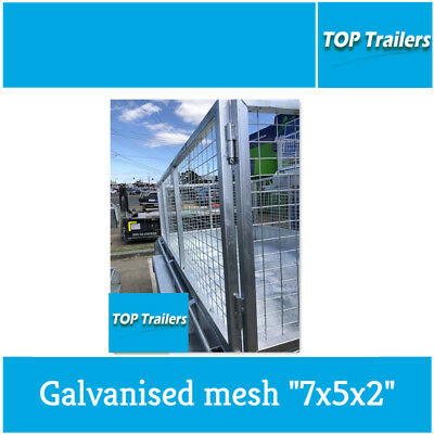 "Brand new Galvanised mesh ""7x5x2"" cage box trailer (2135x1525x600) Heavy duty"