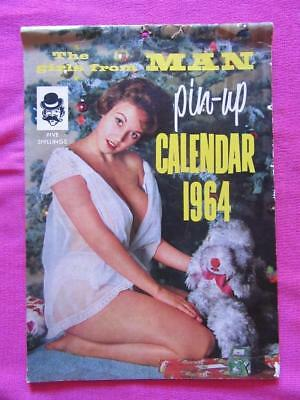 1964 The Girls From Man Pin-Up Calendar Printed by Kenmore Press Lidcombe N.S.W.