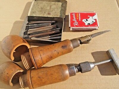 Vintage Hand Tools With Storage Handle