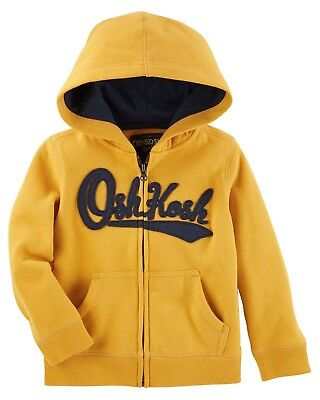Oshkosh Boys Kids French Logo Hoodie Sweaters Jacket Coat Size 6 Months-5 Years