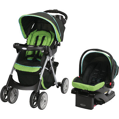 Infant Car Seat Stroller Combo Toddler Fold Baby Carriage Travel Click Connect