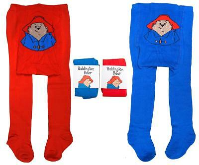 Baby PACK OF 2 Toddler Paddington Bear Red/Blue Tights Tiny Baby to 24 Months
