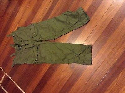 Australia Army Trousers Greenfly fly with buttons 1970s issue Vietnam WarUsed