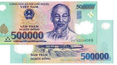 500,000 Vietnamese Dong Banknote VND Uncirculated