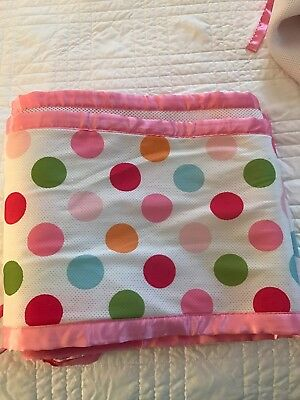 breathable crib bumper/liner multicolor polka dots