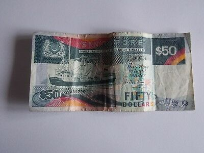 RARE !! SINGAPORE $50 Ship series Coaster Vessel CURRENCY MONEY BANKNOTE