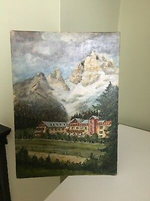Vintage 1950's Oil On Canvas - Kitsch/Christmas