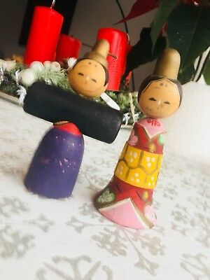 2 Kokeshi Doll It's Naruko style, traditional.