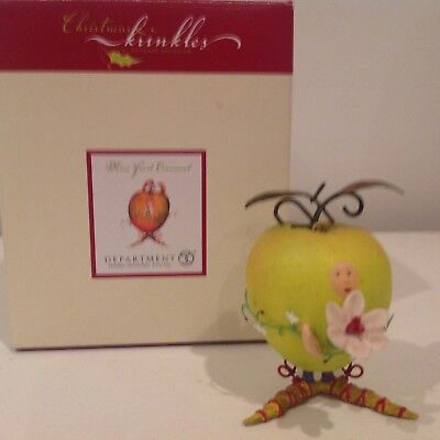 Patience Brewster mini Green Apple ornament