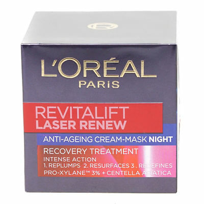 L'Oreal Revitalift Laser Renew Night 50ml Cream Anti Ageing Face Mask