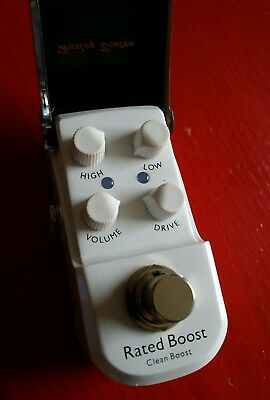 Harley Benton Micro Stomp Rated Boost Pedal Clean Boost Gitarre