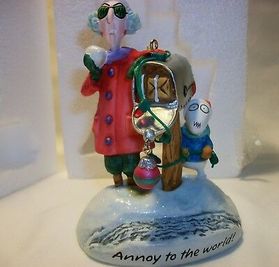 2007 Hallmark MAXINE Annoy To The World Keepsake ORNAMENT Online Exclusive RARE!