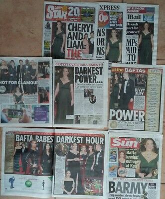 UK NEWSPAPERS CLIPPINGS Jan-Feb 2018 KATE MIDDLETON & PRINCE WILLIAM 50 + pages