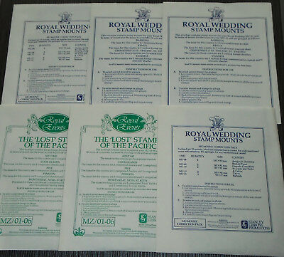 SG stamp mounts in six unopened packets. Various sizes