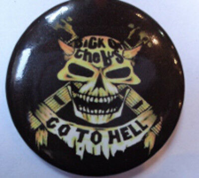 Broche badge pins 4,5 cm go to hell