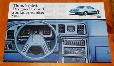 Cool 1985 Ford Thunderbird Large Clever Ad / Vintage 1980S American Auto