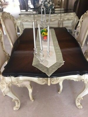 French Provincial Dining Room Table & 6 Chairs (Reduced)
