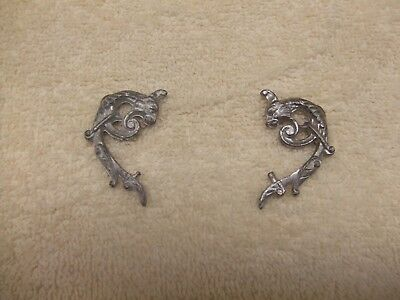 CAST PEWTER ANSONIA urn griffin side pieces 4 statue sitter Mercury Shakespear