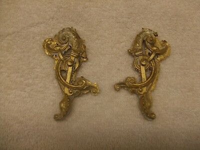 2 Cast brass ANSONIA LARGE urn scrolled side pieces 4 standing statue clocks