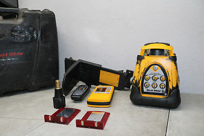 David White Self Leveling Rotary Laser Autolaser 3150 w/ Accessories