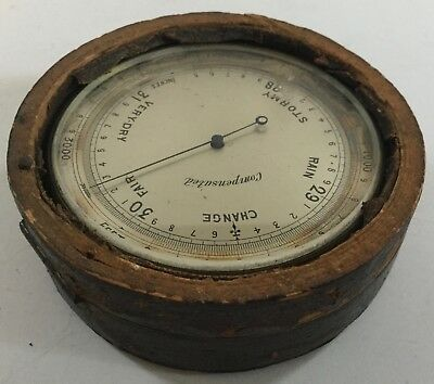 Antique Pocket Barometer Henry Green Brooklyn New York Short Mason England