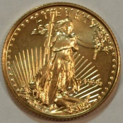 1998 American Gold Eagle BU $5 one-tenth ounce coin.