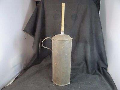 old tin butter churn,13 1/4'' tall,nice small size,table top.