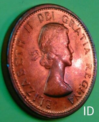 BU Gold Red 1964 Uncirculated One Cent 1¢ Canadian Piece!!!