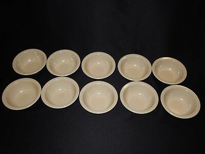 Lot of 10 TEXAS WARE PMC #114 Tan Beige Small 10 Oz. Rim Cereal Soup Bowls