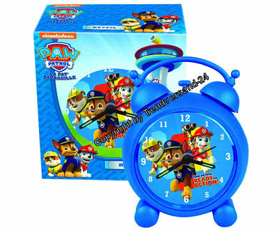 Paw Patrol Wecker in Blau Rubble Marshall & Chase Neu & OVP  ( 4 )