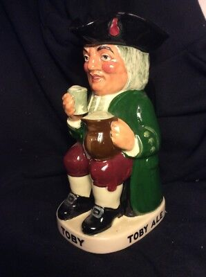 "large Vintage Royal Doulton English Ceramic ""Toby Ale"" 9""character jug"