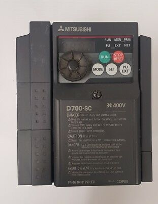 Mitsubishi FR-D740 Inverter Drive 0.4 kW No, 3-Phase In, 380to 480 V ac, 1.2 A,