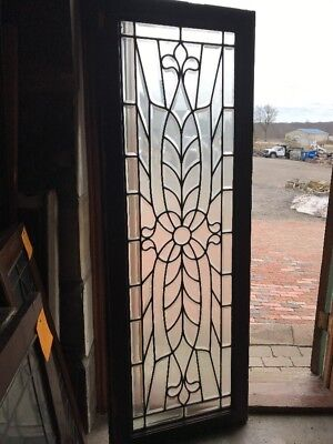 SG 1942 Antique Amazing All Beveled Glass Transom Window 22.5 X 64.5