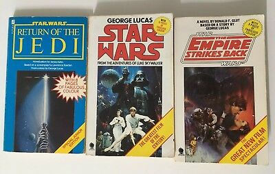 Stat Wars , Empire Strikes Back, Return Of The Jedi Novels