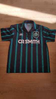 Very rare CR SMITH Celtic away kit from early 90s - UMBRO - Large